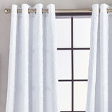 Calista Microsculpt Window Curtain Panel White