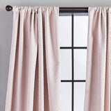 Bloomsbury Microsculpt Window Curtain Panel Blush