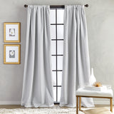 Bloomsbury Microsculpt Window Curtain Panel Grey