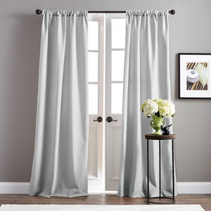 Basket Microsculpt Window Curtain Panel Grey