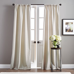 Basket Microsculpt Window Curtain Panel Taupe