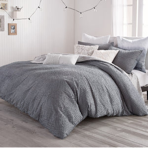 Peri Home Dot Fringe Comforter Bedding Collection Grey