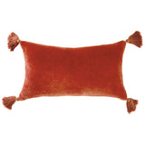 Peri Home Velvet Tassels Decorative Pillow