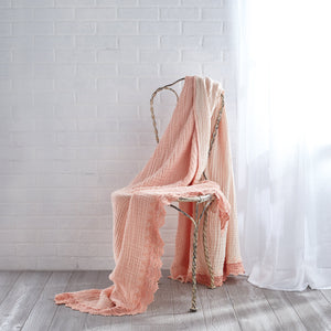 Peri Home Gauze Crochet Throw
