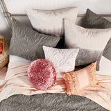 Peri Home Macaron Crushed Velvet Decorative Pillow