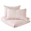 Microsculpt Solid Medallion Comforter Set blush