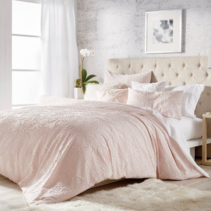 Microsculpt Solid Medallion Duvet Set
