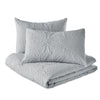 Microsculpt Solid Medallion Comforter Set grey
