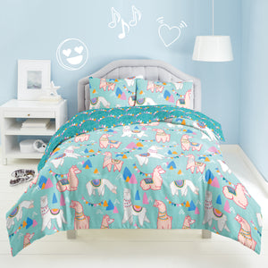 Dream Factory Llama Rama Cotton Comforter Set