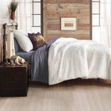 G.H. Bass & Co. Cable Knit Sherpa Bedding Comforter Set