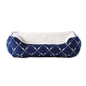 G.H. Bass & Co. Crew Cuddler Sherpa Pet Bed Blue