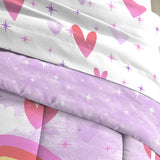 Dream Factory Unicorn Rainbow Bed in A Bag Comforter Set