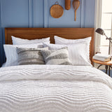 Murmur Chenille Wave Comforter Bedding Collection