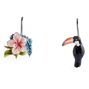 Destinations Toucan Shower Curtain Hooks