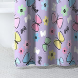Dream Factory Sweet Butterfly Shower Curtain