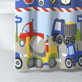 Dream Factory Trucks Tractors Cars Shower Curtain