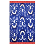 John Robshaw Vaya Beach Towel Collection Indigo