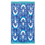 John Robshaw Vaya Beach Towel Collection Periwinkle