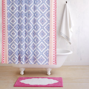 John Robshaw Mitta Periwinkle Shower Curtain