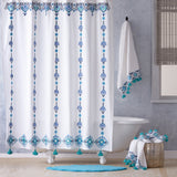 John Robshaw Aloka Blue Shower Curtain