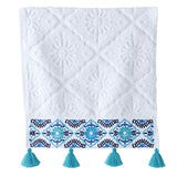John Robshaw Aloka Blue Wash Cloth Towel