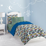 Dream Factory Trains Bed in a Bag Comforter Set