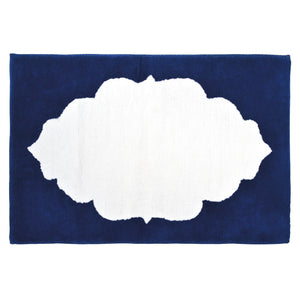 John Robshaw Hamir Bath Rug Collection Indigo