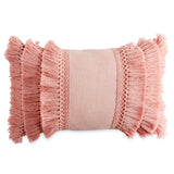 Peri Home Fringe Decorative Pillow blush