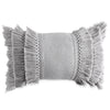 Peri Home Fringe Decorative Pillow grey
