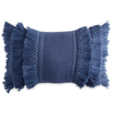 Peri Home Fringe Decorative Pillow navy