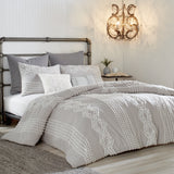 Peri Home Cut Geo Comforter Bedding Collection grey