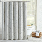 Peri Home Chenille Lattice Shower Curtain grey