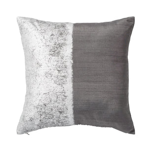 Michael Aram Metallic Texture Decorative Pillow Grey