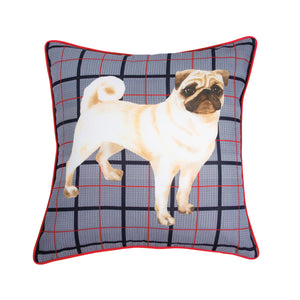 G.H. Bass & Co. Pug Decorative Pillow