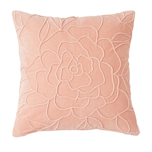 Peri Home Velvet Floral Decorative Pillow