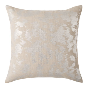 Michael Aram Metallic Rib Print Decorative Pillow