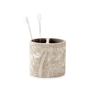 Destinations Palm Wood Toothbrush Holder