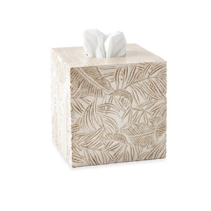 Destinations Palm Wood Tissue Box Cover