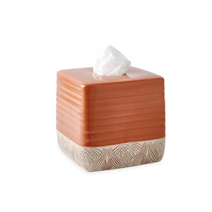 Destinations Pineapple Palm Tissue Box Cover