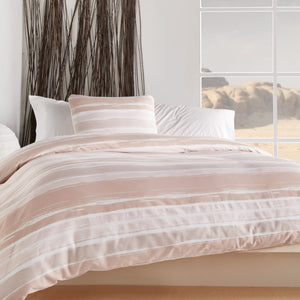 Wellbe Horizon Duvet Set Blush