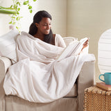 Wellbe Karma Solid Weighted Blanket Cover White