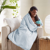 Wellbe Karma Diamond Weighted Blanket Cover Blue