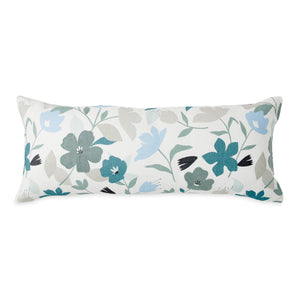 Wellbe Flora Bolster Pillow Blue