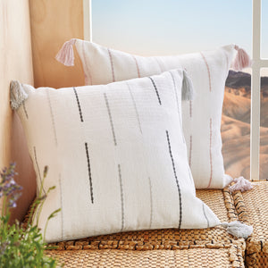 Wellbe Echo Decorative Pillows Blush and Grey