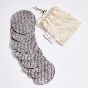 Wellbe Refresh Reusable Face Pads Grey