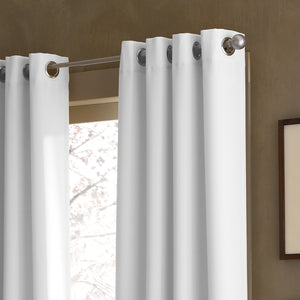 Curtainworks Kendall Grommet Window Curtain Panel White/Grey