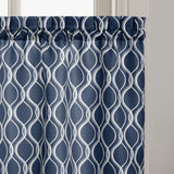 Curtainworks Morocco Tier & Valance Separates Navy