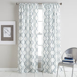Coco Poletop Window Curtain Panel Blue