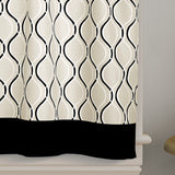 Curtainworks Morocco Tier & Valance Separates Black