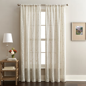 Lynette Poletop Window Curtain Panel Linen